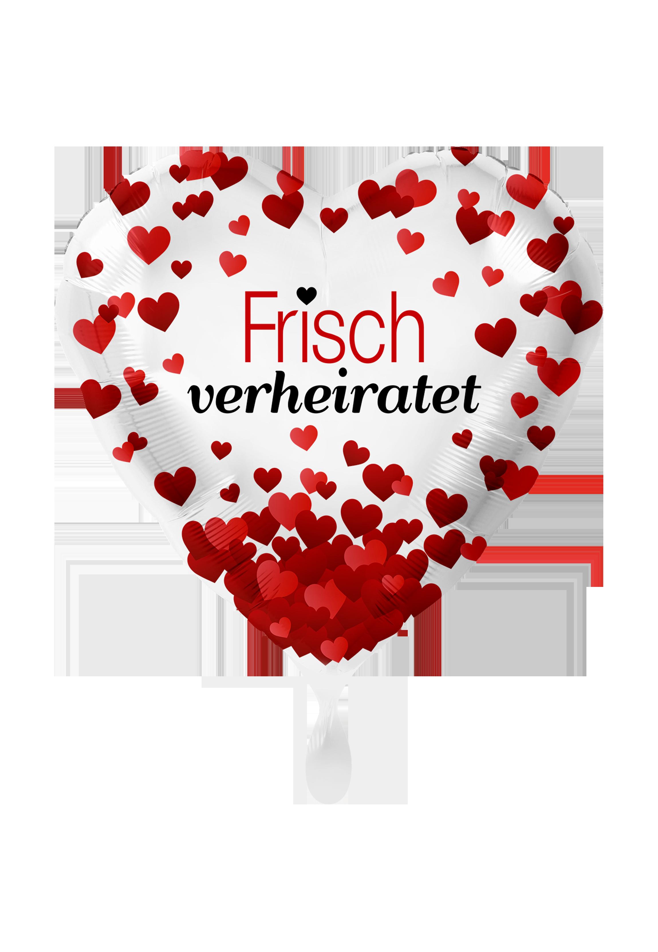 Folienballon Herz Frisch Verheiratet