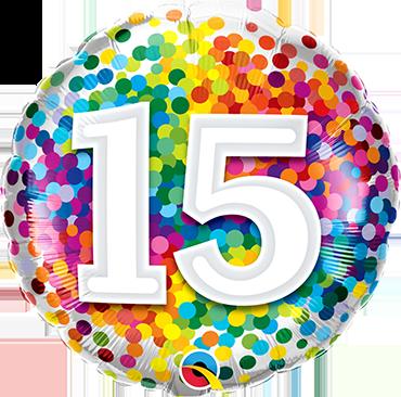Folienballon Rainbow Confetti 15