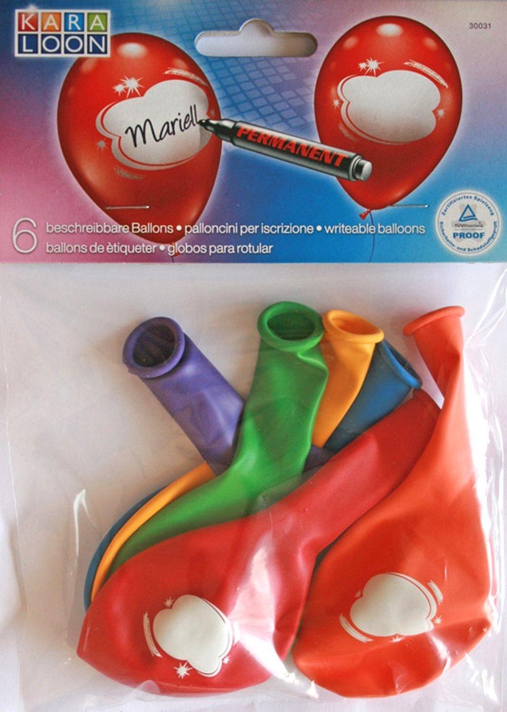 6er-Set Ballons beschreibbar