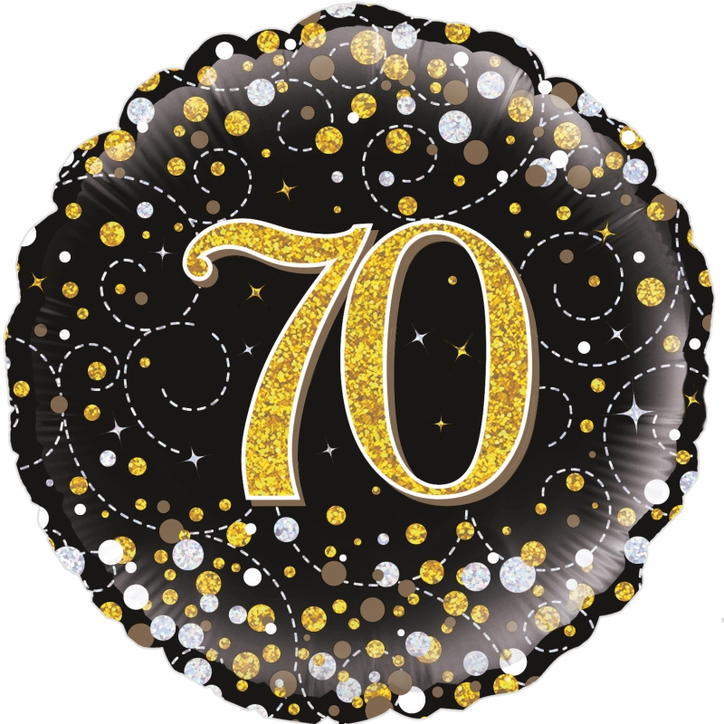 Folienballon Sparkling Fizz schwarz gold 70
