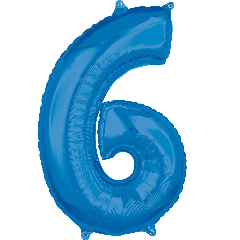 Zahlenballon Blau L - 6