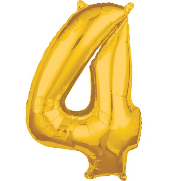 Zahlenballon Gold L - 4