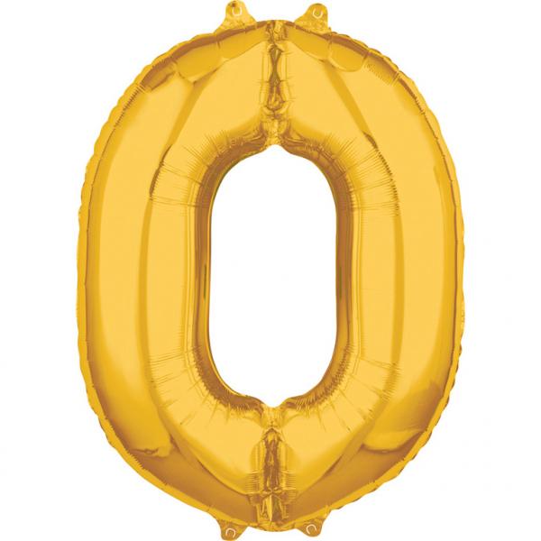 Zahlenballon Gold L - 0