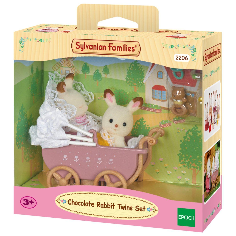 Zwillinge mit Kinderwagen