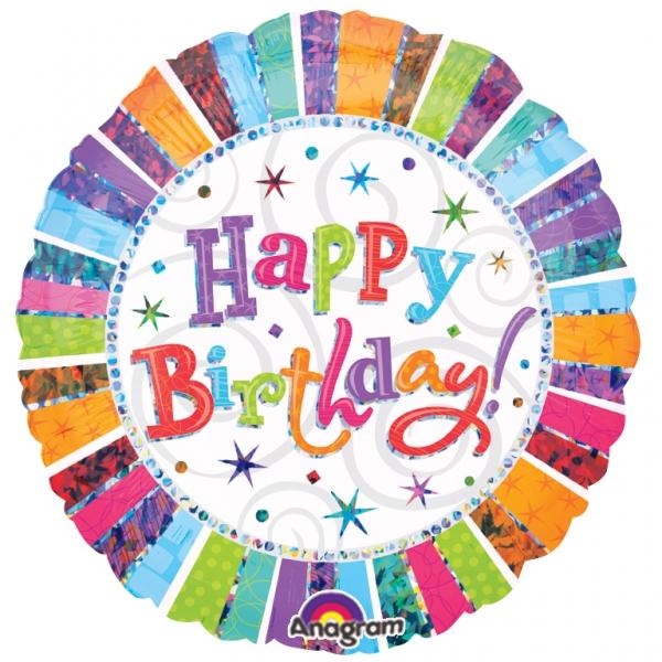 Folienballon Radiant Happy Birthday - 55046