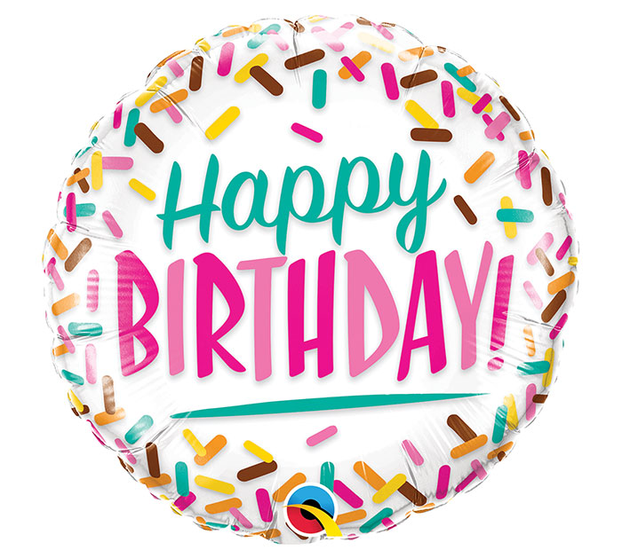 Folienballon Happy Birthday Sprinkle