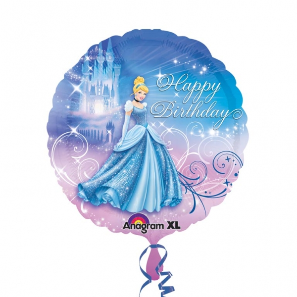 Folienballon Cinderella Happy Birthday
