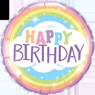 Folienballon Birthday Rainbow