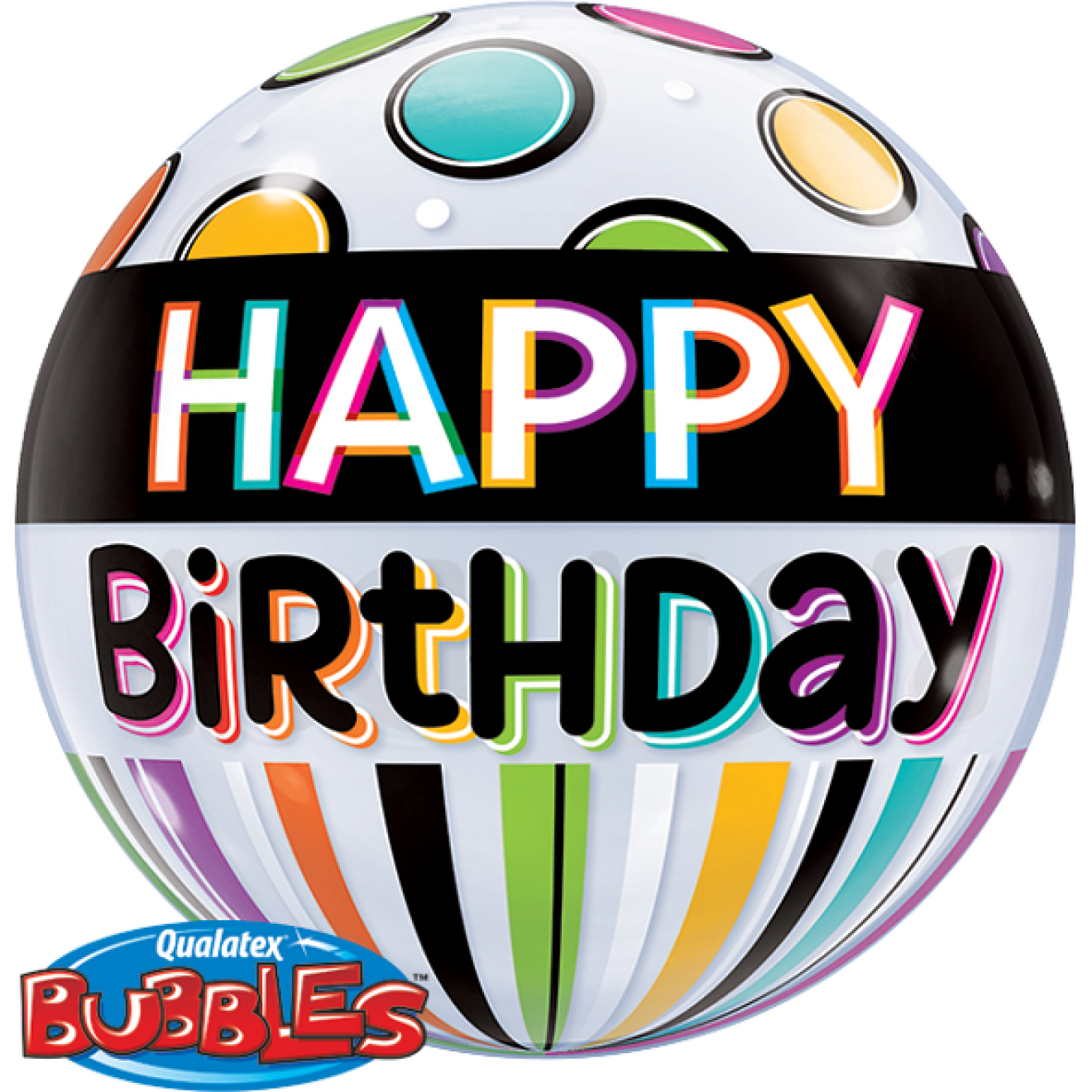 Bubble  Birthday Black Band und Dots - 59361