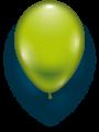 Latexballon limonengrün- 1 Stück - Größe 11'