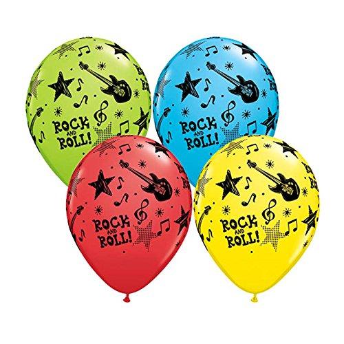 Rock und Roll Stars farbig sortiert 11in