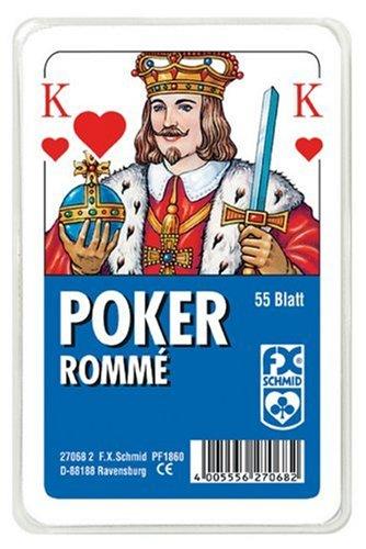 Poker/Rommé französisches Bild Kunststoffetui