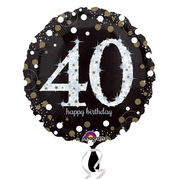 Folienballon Sparkling Birthday 40