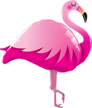 Folienballon Supershape Pink Flamingo