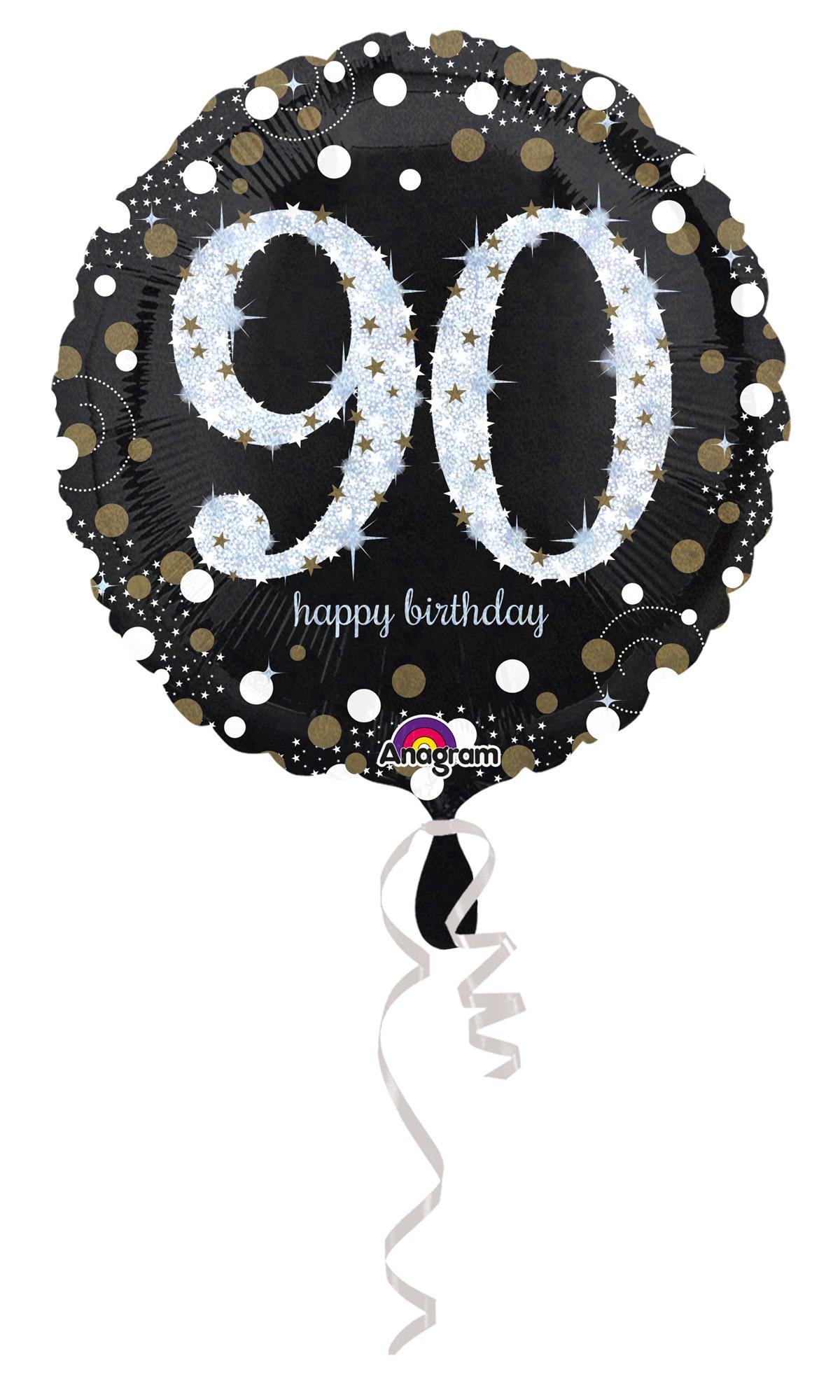 Folienballon Sparkling Birthday 90