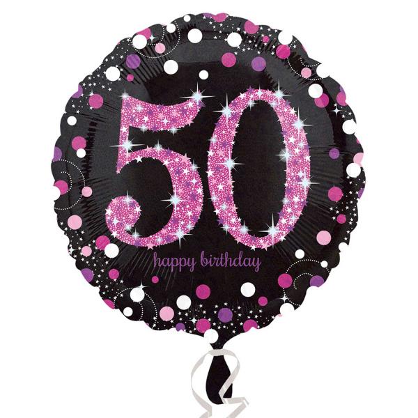 Folienballon Pink Celebration 50