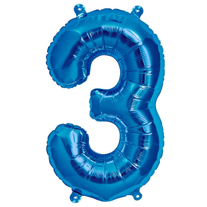 Zahlenballon Blau XL - 3