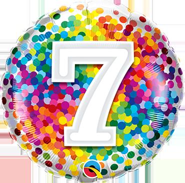 Folienballon Rainbow Confetti 7