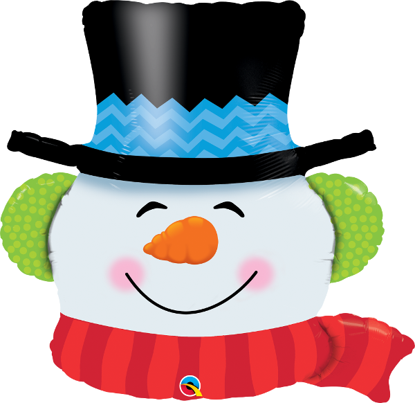 Folienballon Smilin Snowman