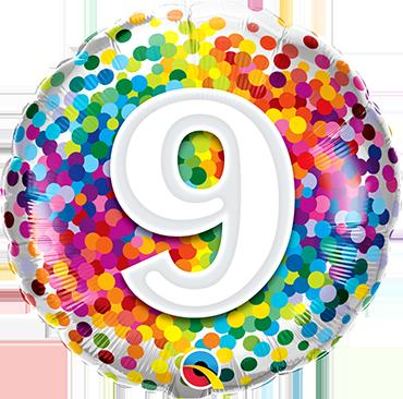 Folienballon Rainbow Confetti 9