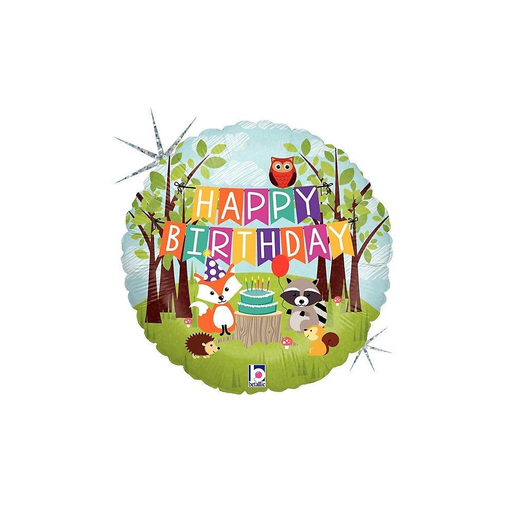 Folienballon Waldtiere Happy Birthday - 54674