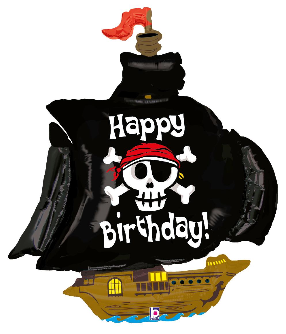 Folienballon Piratenschiff - 53525