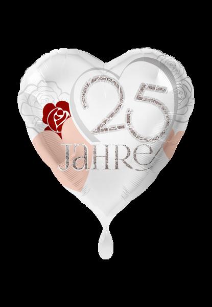 Folienballon 25 Jahre Silberhochzeit