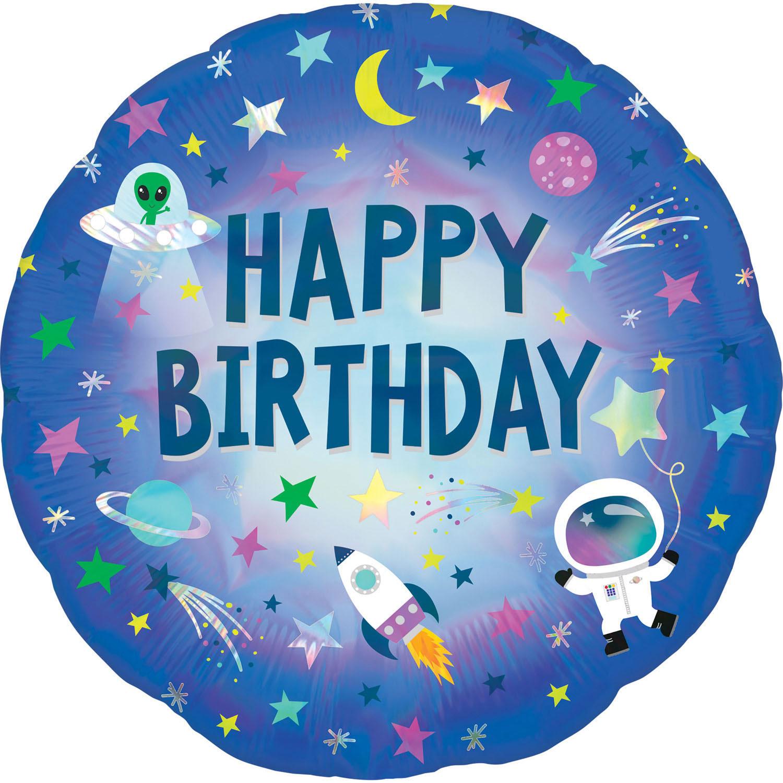 Folienballon Holographic Außerirdischer Geburtstag - 63776