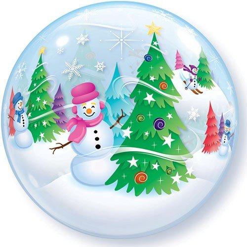 Bubble Christmas Schneemänner