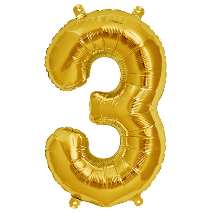 Zahlenballon Gold  XL - 3