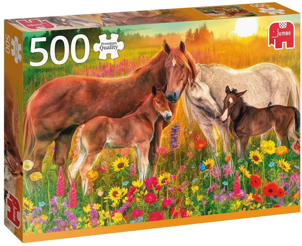 Puzzle Pferde auf der Weide - 500 Teile