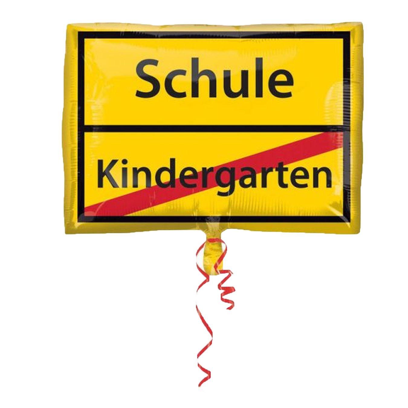 Folienballon Juniorshape Schulanfang - Schild