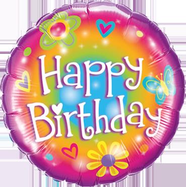 Folienballon Birthdays Bright