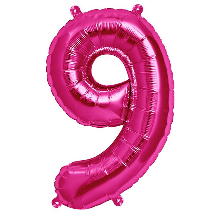 Zahlenballon Magenta XL - 9