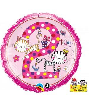 Folienballon Rachel-Ellen 2 Kittens Polka Dots