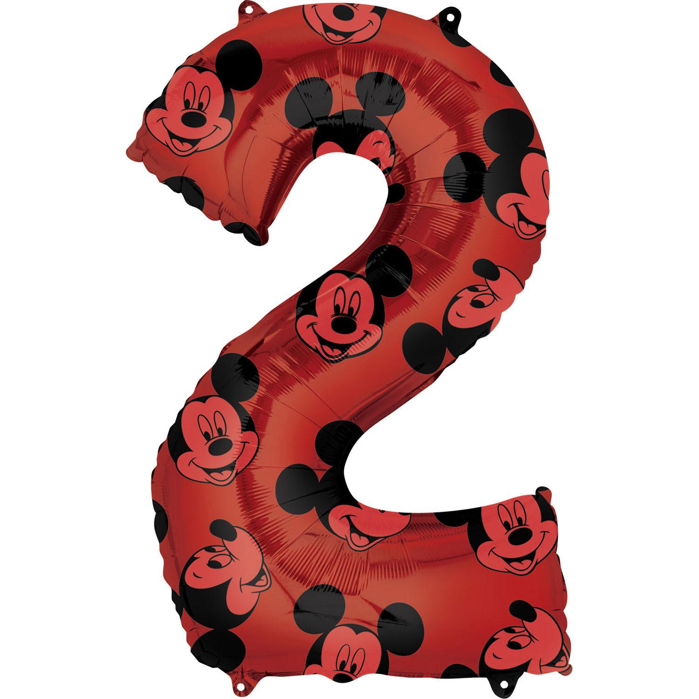 Zahlenballon Mickey Mouse Alloverdruck L - 2