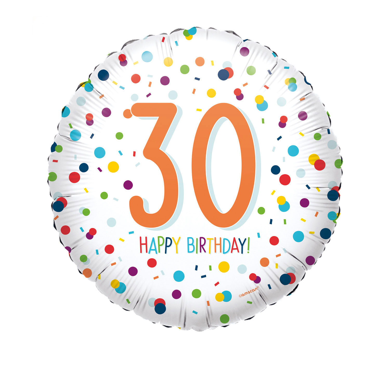 Folienballon Confetti Birthday 30