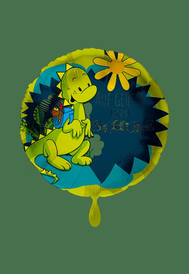 Folienballon Auf gehts in die Schule