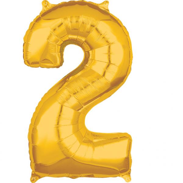 Zahlenballon Gold L - 2