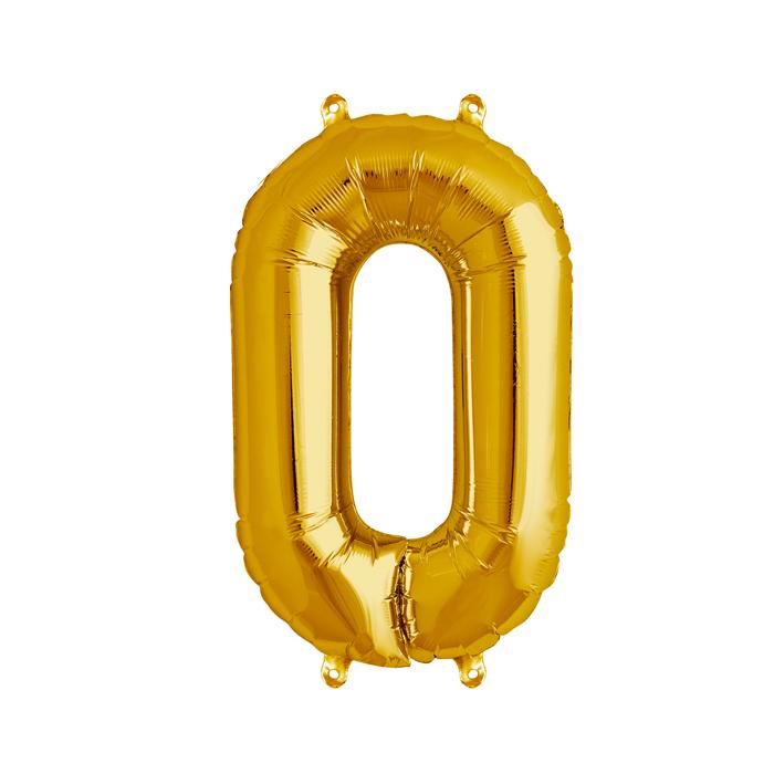 Zahlenballon Gold S - 0
