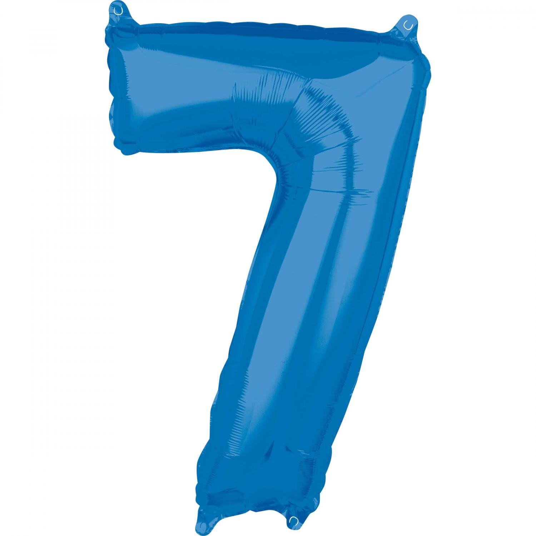 Zahlenballon Blau L - 7