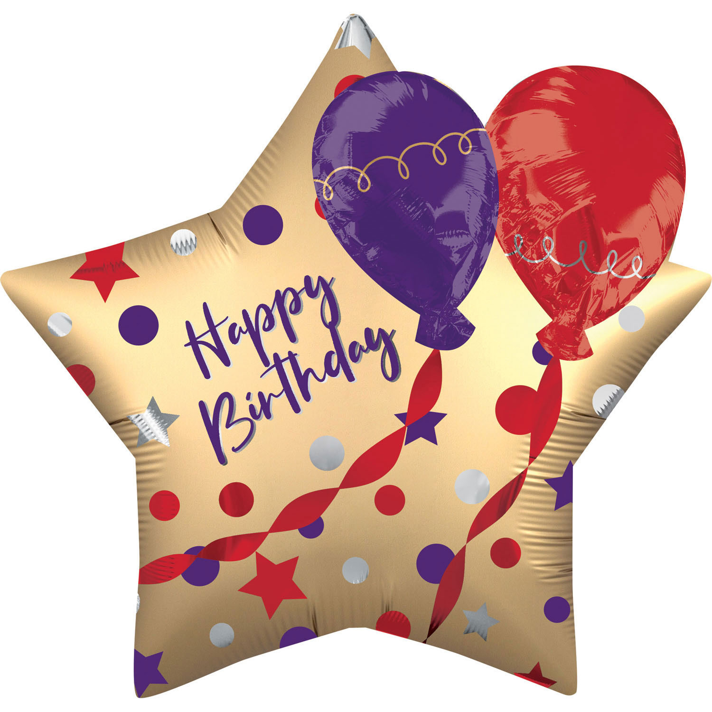 Supershape Multi-balloon Satin Birthday - 64317