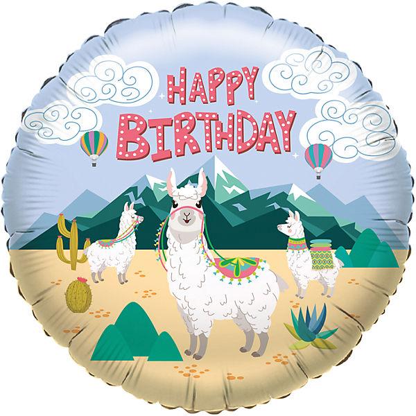 Folienballon Happy Birthday Lama - 60314