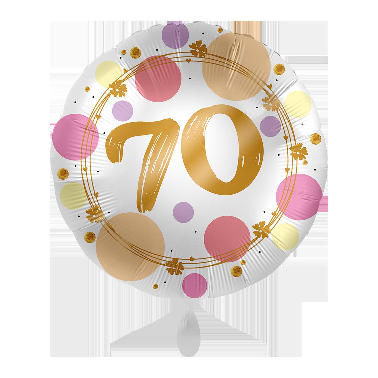 Folienballon Shiny Dots 70
