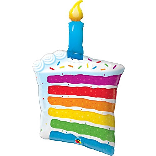 Foilballon Rainbow Cake and Candle -  42inch - 1 Stück