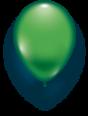 Latexballon grün - 1 Stück - Größe 11'