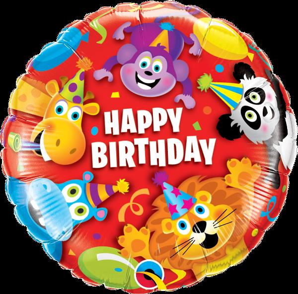 Folienballon Birthday Party Animals - 59719