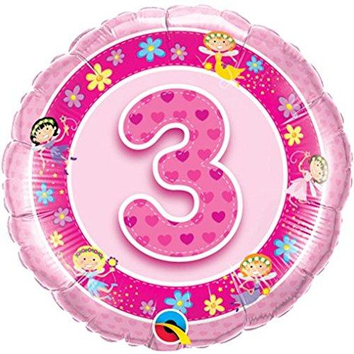 Folienballon 3 Pink Fairies