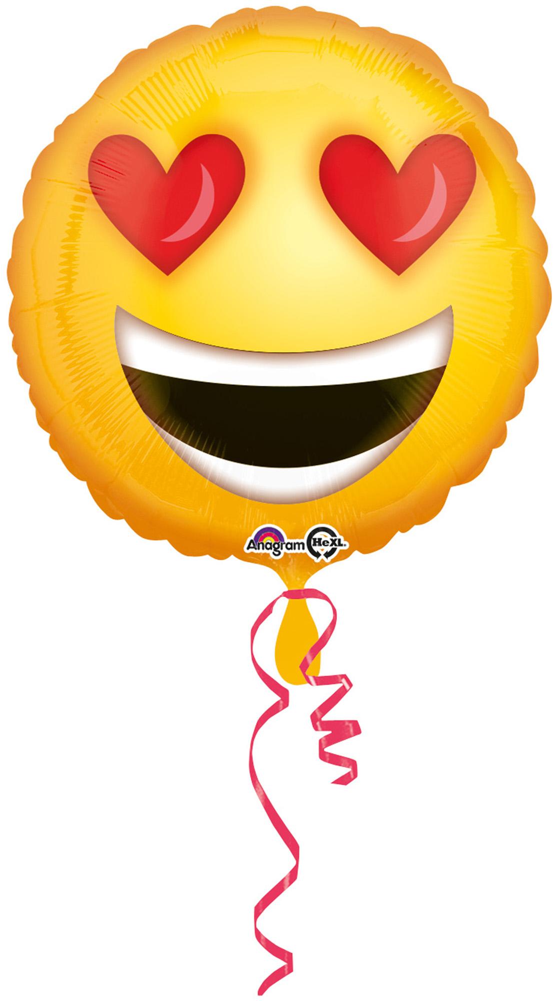 Folienballon Standard Verliebtes Emoticon