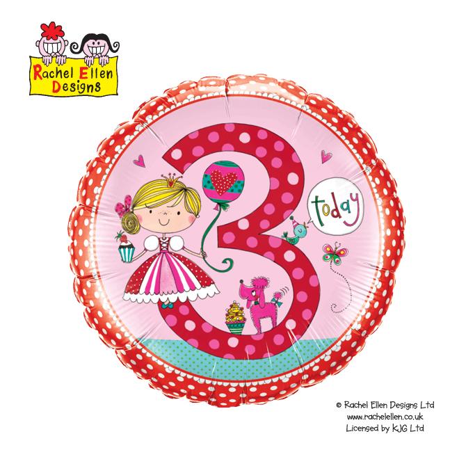 Folienballon Rachel-Ellen 3 Princess Polka Dots